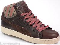 PUMA Worker Mid brown UVP_€110 Leder Gr.40,5 NEU Herren Sneaker Schuhe Braun