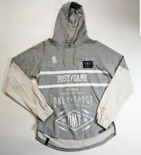 POST GAME MENS 100%AUTHENTIC LONG SLEEVE HOODIE size large gray
