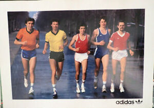 Vintage ADIDAS Running poster Original années 80