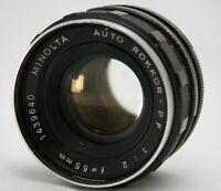 Minolta Auto Rokkor-PF 1:2 55mm Lens *As Is* #CQ51b