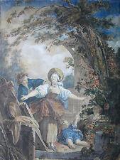 """Le Jeu Colin Maillard"" Aquarell Kopie nach Jean Honoré Fragonard (1732-1806)"