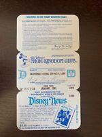 Vintage Disneyland Magic Kingdom Club Membership Card 1968