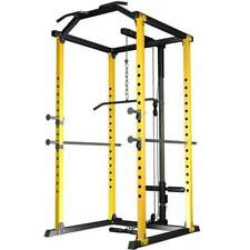 Elite Power Rack Squat Rack Gym, High Low Cable Attachments Training Exercise