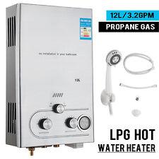 12L Propan Gas Durchlauferhitzer Warmwasserbereiter Boiler Wasser