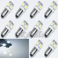 2 x Blanco Muy Brillante T11 BA9S 5050 SMD 5 LED Coche Lámpara Bombilla 12V