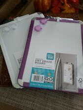 Pen+Gear Magnetic Dry Erase Board. Includes Marker And 2 Magnets. Set of 2