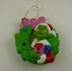Christmas ornament The Grinch who stole Christmas who wreath green  xmas