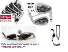 MENS ACER XK SERIES IRON SET 3-9 IRON+PITCHING WEDGE: STAINLESS STEEL HEADS
