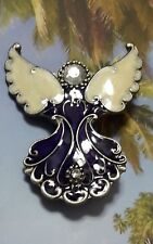 Decorative Enamel and Rhinestone Angel Candle Jewelry - Set of Two