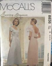 McCall's pattern 8836 Misses' Lined Dresses with Detach Train sz 8, 10, 12 uncut