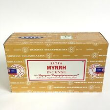 nag champa Satya Myrrh incense 12 X 15gm Bulk pack 2018 fresh stock