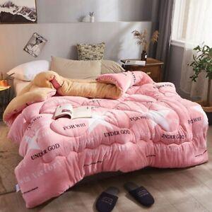 Flannel Warm Winter Wool Thicken Comforter Duvet Blanket Lamb Down Bedding Set