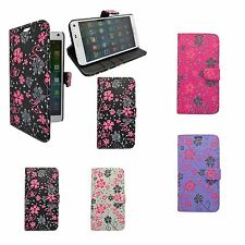 Case For Samsung Galaxy Note 4 Flower Swirl Wallet Flip PU Leather Pouch Cover
