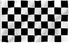 3x5 Black and White Checkered Racing Flag 3'x5' House Banner grommets polyester