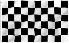 2x3 Black and White Checkered Racing Flag 2'x3' House Banner grommets polyester