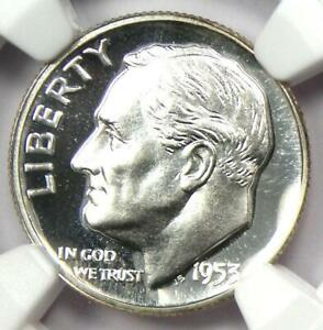 1953 PROOF Roosevelt Dime 10C Coin - NGC PR69 Cameo (PF69) - $2,750 Value!