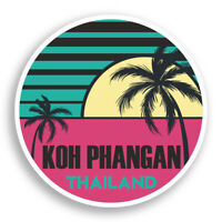 2 x 10cm Koh Phangan Vinyl Stickers - Thailand Sticker Laptop Luggage #10952