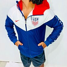 Rare Nike USA Windrunner Jacket Windbreaker Soccer Red White Blue Stars Small