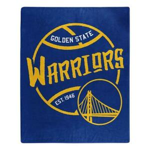 Golden State Warriors 50x60 Blacktop Design Raschel Throw Blanket [NEW] Fleece