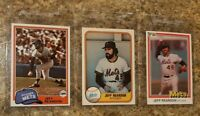 (3) Jeff Reardon 1981 Topps Fleer Donruss Rookie Card Lot RC Mets Expos
