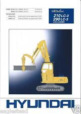 Equipment Brochure - Hyundai - Robex 210Lc-3 290Lc-3 Log Loader - 1998 (E2573)