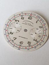 Chronographe suisse watch dial for ETA Valjoux 7733 swiss made movement unused