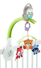Fisher-Price Woodland Friends Musical 3-in-1 Mobile Crib, Lullaby Music for Baby