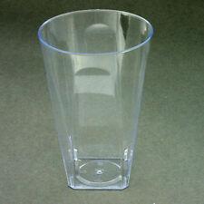 40 x 284ml/284ml Plastique carré Gobelets/Verres Solide Jetables de qualité Fête