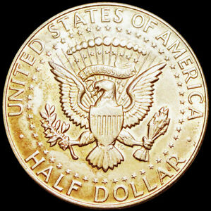 UNITED STATES OF AMERICA - DENVER MINT - KENNEDY HALF DOLLAR 1968 - SILVER  #H17