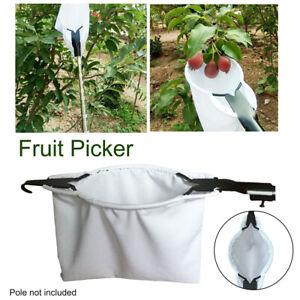 Metal Fruit Picker Fabric Orchard Gardening Peach Mango Tree Picking Tool AU