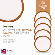 Reusable Bamboo Cotton Makeup Remover Pads - Brown Pads - Washable (PACK OF 10)