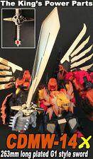 【FREE SHIP】transformers crazydevy custom CDMW14x G1 sword mp predaking ferel rex