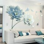 Removable Flower Lotus Butterfly Wall Stickers 3d Wall Art Decals Home Decor