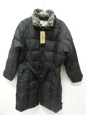 Woolrich Women's Black Down Coat with Fur Trim - Size Large - NWT