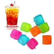 100 X Plastica Riutilizzabile cubetti di ghiaccio Casa Festa BBQ congelazione rapida bibita fresca CUBI