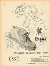 Publicité 1956  Rafale Bottillon Chaussures éssé pour enfants