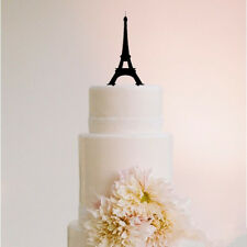 Eiffel Tower Silhouette Romantic Wedding Acrylic Cake Topper Cupcake Stand
