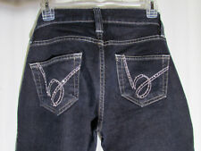 Bebe Blue Denim Jeans Holly Skinny Size 28 Low Rise Rhinestone Accents