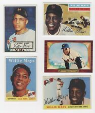 LOT #5 WILLIE MAYS REPRINT COLLECTION SEY HEY KID 1952 ROOKIE 55 56 58 55 BOWMAN