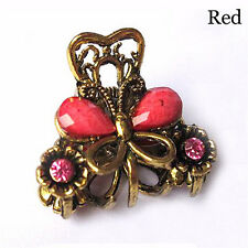 Pop Retro Women Girls Mini Butterfly Hair Clips Resin Hairpins Claw Jewelry BH