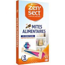 Lot de 2 boîte ZEN'SECT Anti mites alimentaires 4 Piéges. Sans insecticide