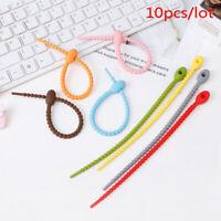 10pcs Bag Ties Cable Zip Tie Twist Multi-use Bag Clip Bread Tie Food Saver NS ^P