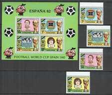 M1469 1987 TANZANIA MARADONA FOOTBALL WORLD CUP SPAIN 82 #197-0 SET+KB MNH