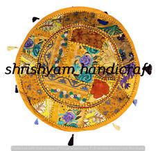 "22"" Home Decorative Round Pouf Cover Cotton Ethnic Indian Patchwork Ottoman Pouf"