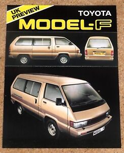 1983 TOYOTA MODEL-F UK PREVIEW Sales Brochure - Excellent Condition