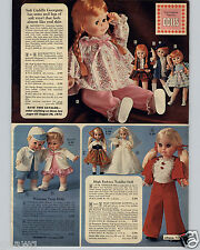 1971 PAPER AD Eegee Georgette Doll Dolls Red Head Winsome Twins Timey Tell