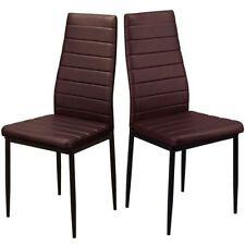 Chaises marrons en métal pour la maison
