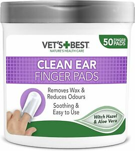 Vet'S Best Ear Cleaning Pads For Dogs-Removes Wax & Odour-Pack Of 50 Finger Pads
