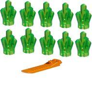LEGO  Bright Green CRYSTAL LOT OF 10 Power Miners jewel gem rock pirate treasure