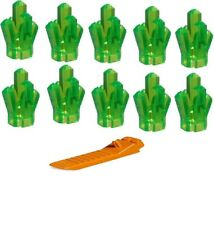LEGO  Bright Green CRYSTAL LOT OF 10 Power Miners jewel gem rock pirate treasure
